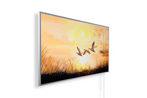 200+ Bilder Bildheizung in HD Qualit/ät mit T/ÜV//GS 108. Flugenten Ölgemälde 450 Watt K/önighaus Fern Infrarotheizung