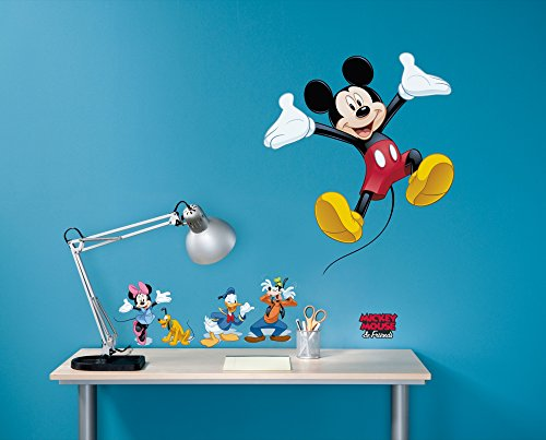 Komar - Disney - Deco-Sticker MICKEY AND FRIENDS - 50x70cm - Wandtattoo, Wandsticker, Wandaufkleber, Wandbild, Mickey Maus, Minnie Maus - 14017h, Bunt von Komar