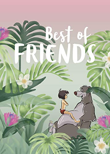 Komar Disney Wandbild Jungle Book Best of Friends | Kinderzimmer, Babyzimmer, Dekoration, Kunstdruck | ohne Rahmen | WB089-50x70 | Größe: 50 x 70 cm (Breite x Höhe) von Komar