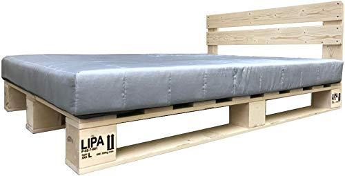 Great Lipa Mit Kopfteil Paletten Bett Holz X Cm Hergestellt In Brd X Cm  With Bett 120 X 180