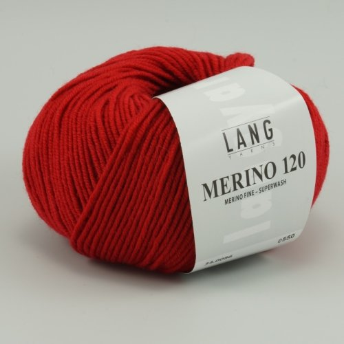 Merino 120 Superwash 0086 weinrot von Lang Yarns