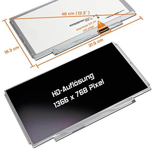 "Laptiptop 13,3"" LED Display Screen matt Ersatz für HP K3R06AV 1366x768 HD 40pin Bildschirm Panel von Laptiptop"
