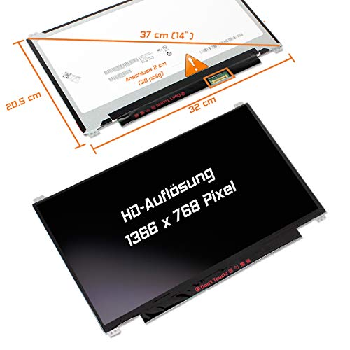 "Laptiptop 14,0"" LED Display Screen Glossy Ersatz für HP Z1v88us 1366x768 HD 30pin Bildschirm Panel von Laptiptop"