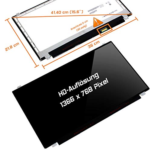 "Laptiptop 15,6"" LED Display Glossy passend für HP W4Y62EA 30Pin Bildschirm WXGA HD von Laptiptop"