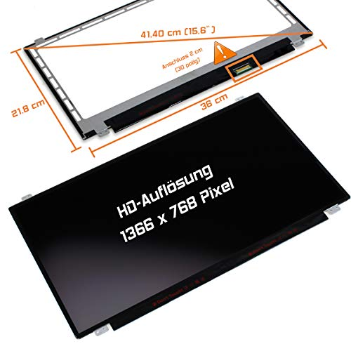 "Laptiptop 15,6"" LED Display matt passend für HP 15-BS048TX 30Pin Bildschirm WXGA HD von Laptiptop"