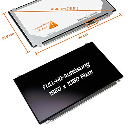 "Laptiptop 15,6"" LED Display Screen matt Ersatz für HP W6Y48EA 1920x1080 FHD 30pin Bildschirm Panel von Laptiptop"