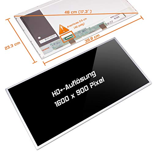 "Laptiptop 17,3"" LED Display Screen Glossy Ersatz für HP W2V64EA 1600x900 HD+ 40pin Bildschirm Panel von Laptiptop"