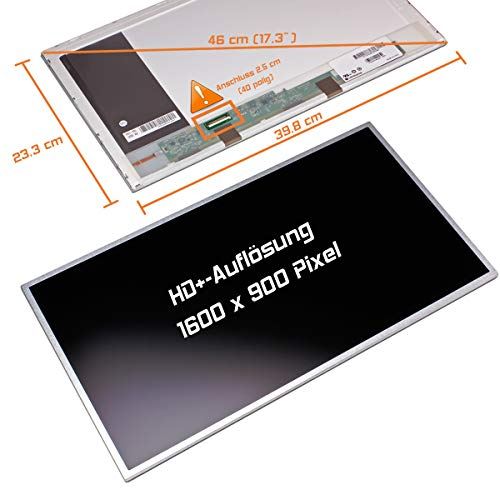 "Laptiptop 17,3"" LED Display matt passend für Toshiba Pslw8e-01h014n5 1600x900 HD+ Bildschirm von Laptiptop"