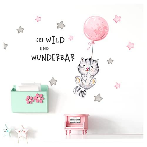 Little Deco Wandtattoo Babyzimmer Hasen mit Ballon Rosa I S BxH I Blumen Kinderbilder Deko Kinderzimmer M/ädchen Aufkleber Sticker DL238 56 x 56 cm