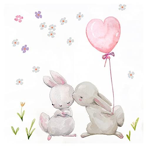 Bxh Little Deco Wandtattoo Bis Zum Mond Hase Mit Luftballon I 174 X 102 Cm I Kinderzimmer Babyzimmer Aufkleber Sticker Wandaufkleber Wandsticker Kinder Dl133 Wanddekoration Baby