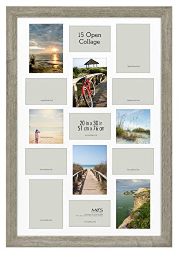 MCS Museum Poster Frame Collage, 20 x 30 Inch, Barnwood von MCS