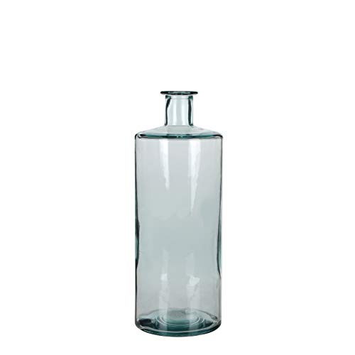MICA Decorations Guan Flasche/Vase, Glas, transparant, H. 40 cm D. 15 cm von MICA Decorations