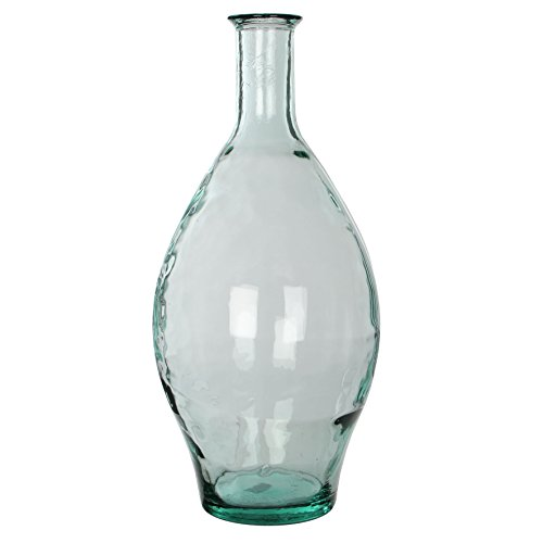MICA Decorations Kyara Glasflasche/Vase, Glas, transparent, H. 60 cm D. 28 cm von MICA Decorations