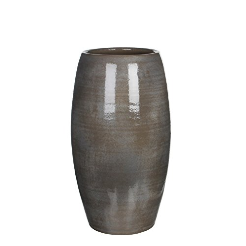 Mica Decorations Lester Vase grau H 50 x Ø 30 cm von MICA Decorations