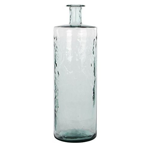 MICA Decorations Guan Glasflasche/Vase, Glas, transparent, H. 75 cm D. 25 cm von MICA Decorations