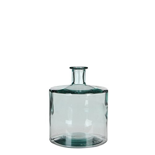 MICA Decorations Guan Flasche/Vase, Glas, transparant, H. 26 cm D. 21 cm von MICA Decorations