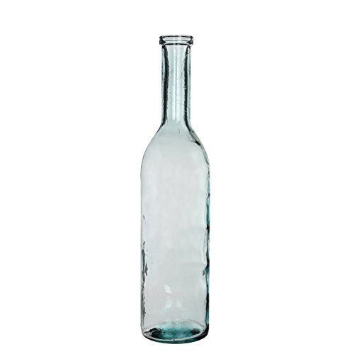 MICA Decorations Rioja Glasflasche/Vase, Glas, transparent, H. 75 cm D. 18 cm von MICA Decorations