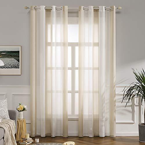 Schlafzimmer In Beige Weiß 2: Transparente Gardinen & Vorhänge Und Weitere