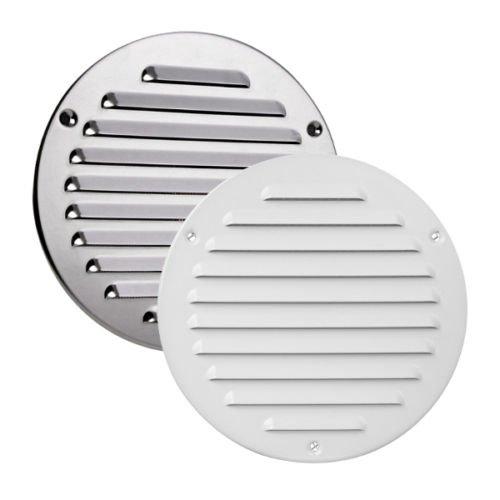 L/üftungsgitter /Ø 60 mm rund chrom silber Insektennetz Abluftgitter Zuluft Abluft Gitter L/üftung T74 ms