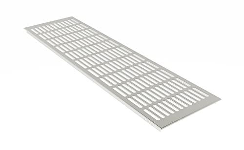 Edelstahl eloxiert - E6C31 MS Beschl/äge /® Aluminium L/üftungsgitter Stegblech Heizungsdeckel 80mm x 200mm verschiedene Farben