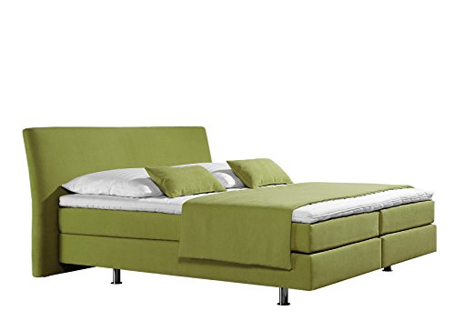 Maintal Boxspringbett Club, 140 x 200 cm, Strukturstoff, Bonellfederkern Matratze h3, lemon von Maintal Betten