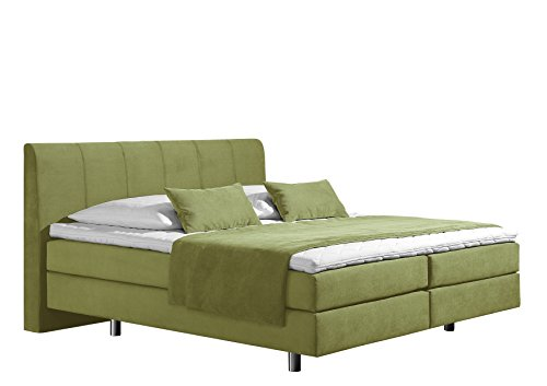 Maintal Boxspringbett Montepellier, 100 x 200 cm, Strukturstoff, 7-Zonen-Kaltschaum Matratze h3, lemon von Maintal Betten