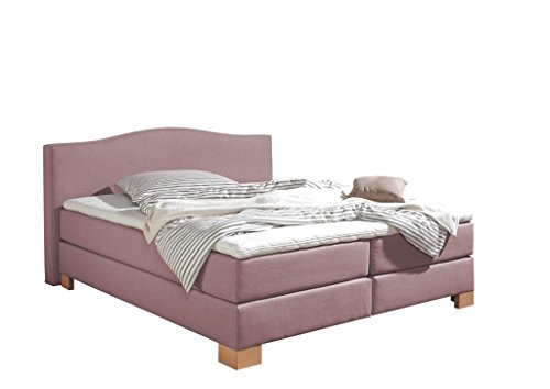 Maintal Boxspringbett Franklin, 140 x 200 cm, Stoff, 7-Zonen-Kaltschaum Matratze h2, Flieder von Maintal Betten