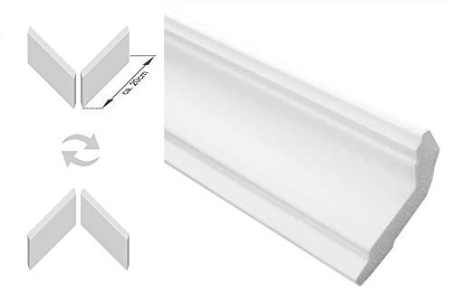 30 Meter Stuckleiste Stuckprofil Deckenprofil Styropor Deckenleiste 89x89mm B-44
