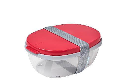 Mepal Salatbox Ellipse, abs, Nordic Red, One Size von Mepal