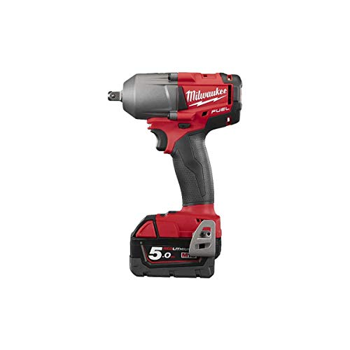 Milwaukee 4933459183 – m18fmtiwp12 – 502 X Schlüssel Schlagschrauber Fuel 18 V Medium Par 750 Nm, 1/2 Pin, Red Lithium 5,0 Ah mit dynacase von Milwaukee