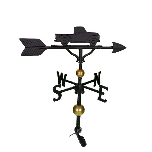 Montague Metal Products 32-Inch Deluxe Weathervane with Satin Black Classic Truck Ornament von Montague Metal Products