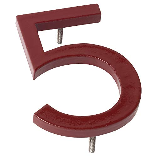 "Montague Metal Products Solid Aluminum Modern Floating Address House Numbers Hausnummern, Pulverbeschichtetes Ziegelrot, 16"" von Montague Metal Products"