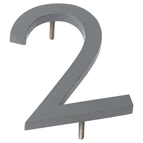 "Montague Metal Products Solid Brushed Aluminum Modern Floating Address House Numbers Hausnummern, Pulverbeschichtetes Grau, 10"" von Montague Metal Products"