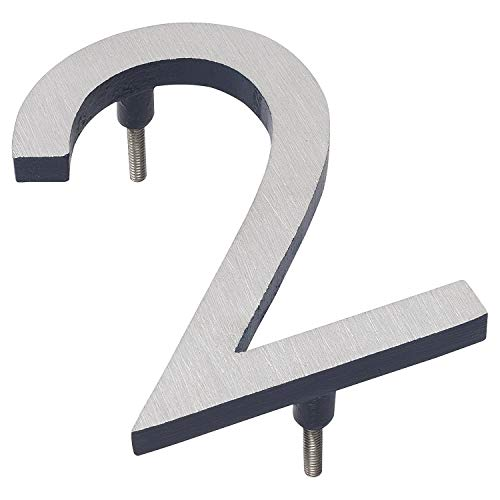 "Montague Metal Products Solid Brushed Aluminum Modern Floating Address House Numbers Hausnummern, Satin Nickel Powder Navy zweifarbig, 12"" von Montague Metal Products"