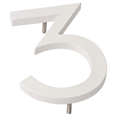 "Montague Metal Products Solid Brushed Aluminum Modern Floating Address House Numbers Hausnummern, Weiß, pulverbeschichtet, 8"" von Montague Metal Products"