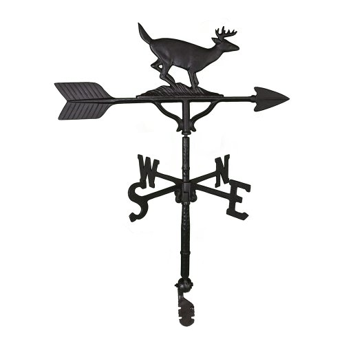 Montague Metal Products Wetterfahne mit schwarzem Buck, 81 cm von Montague Metal Products