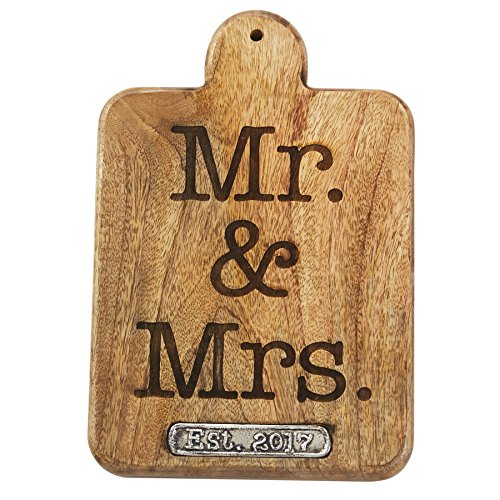 Mud Pie 4751101 Mr. & Mrs. 2017 Paddle Board, Brown von Mud Pie