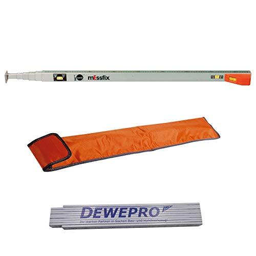 DEWEPRO Zollstock 2m NEDO/® Leichtmessrad ECONO inkl
