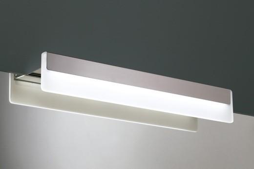 Froadp 12W Kaltwei/ß LED Spiegellampen Spiegelleuchte IP44 Bad-Beleuchtung Einfache Spiegelschrank Wandlampe aus Edelstahl Acryl 70cm
