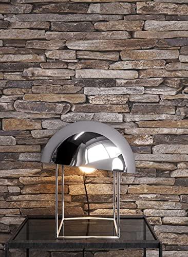 steintapete grau wohnzimmer raum und m beldesign inspiration. Black Bedroom Furniture Sets. Home Design Ideas