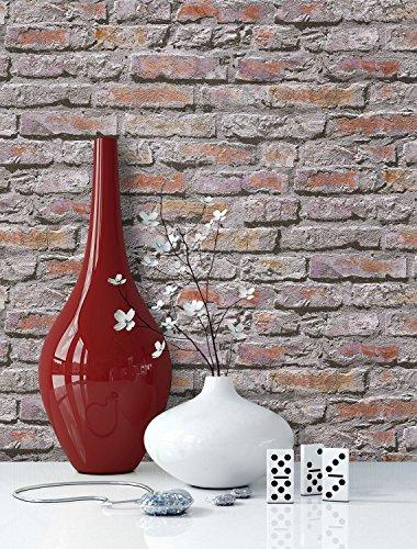 Tapezieren Von Steintapete : Steintapete in Weiß Natur  schöne rustikale Tapete im Design einer