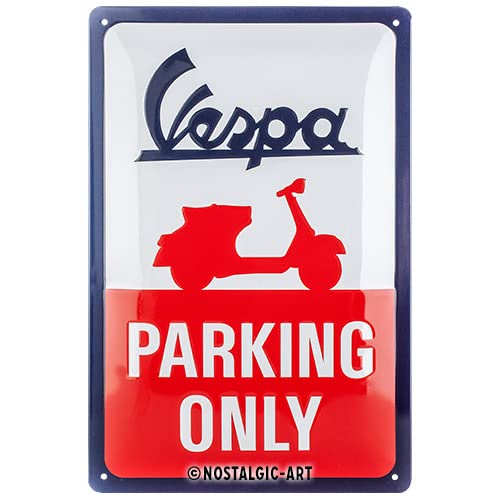 Nostalgic-Art 22282 - Vespa - Parking Only , Retro Blechschild , Vintage-Schild , Wand-Dekoration , Metall , 20x30 cm von Nostalgic-Art