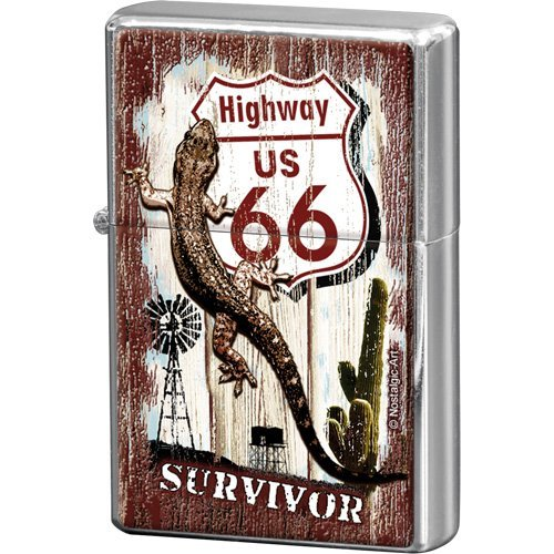 Nostalgic-Art 80236 US Highways - Highway 66 Desert Survivor, Feuerzeug von Nostalgic-Art