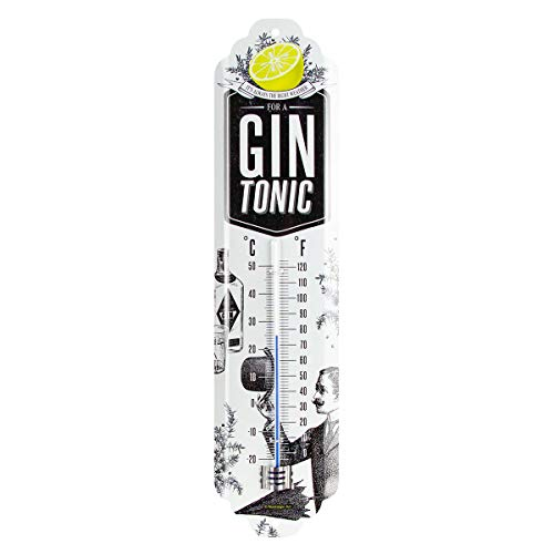 Nostalgic-Art 80330 Open Bar - Gin Tonic Weather, Retro Thermometer, Innen, Vintage Wand-Dekoration von Nostalgic-Art