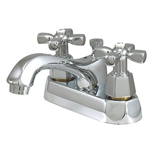 "Elements of Design ES4261HX New York 2-Handle 4"" Centerset Lavatory Faucet with Brass Pop-up, 4-1/2"", Polished Chrome von Nuvo"