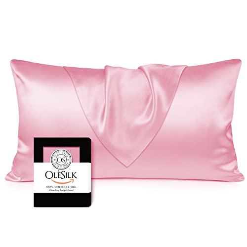 OLESILK 100/% Seide Kissenbezug Kissenh/ülle Haar und Hautpflege mit Verstcktem Rei/ßverschluss 19 Momme 1 St/ück Taupe 40/×60cm