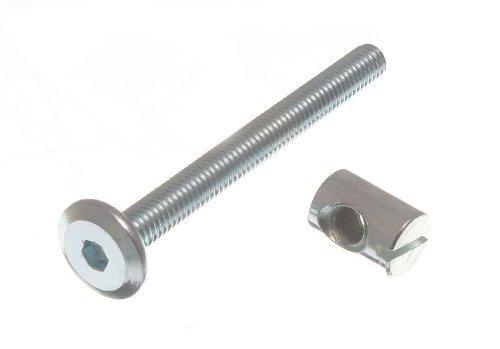 Packung mit 30 Aluminium Gew/ächshaus Leiter Crop Schrauben und Muttern 6 mm x 12 mm
