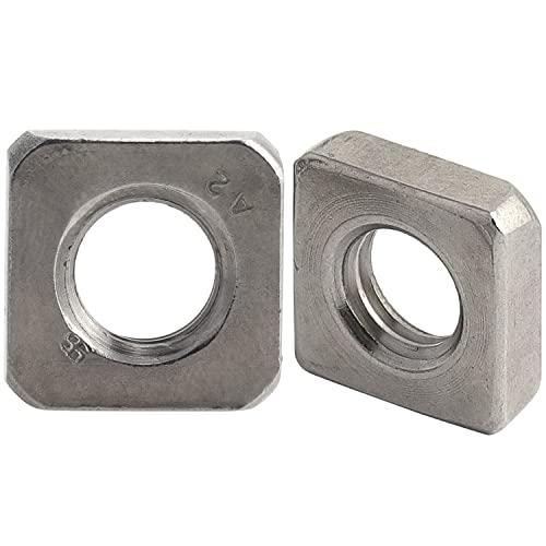 10 Stück Vierkantmutter M6 flach  Edelstahl A4 DIN 562