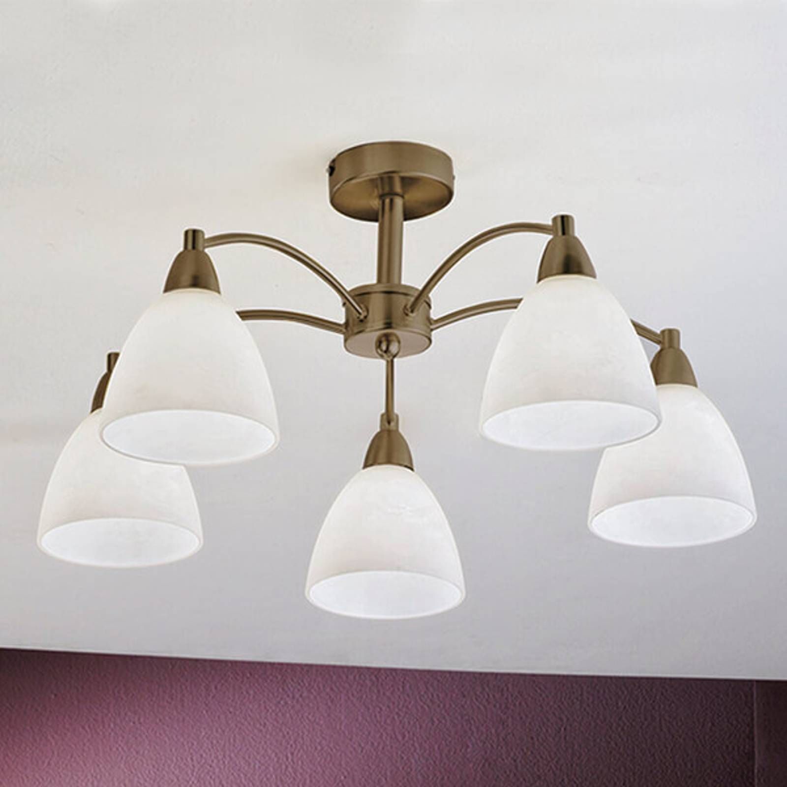 Deckenlampe Kinga, altmessing, 5-flammig von Orion