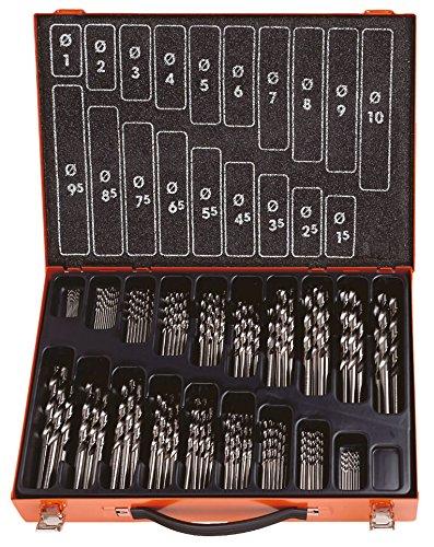 PROJAHN Spiralbohrer Set 19-tlg HSS-Co 5/% DIN 338 Typ N Ø 1-10mm 60319 Stahl Alu